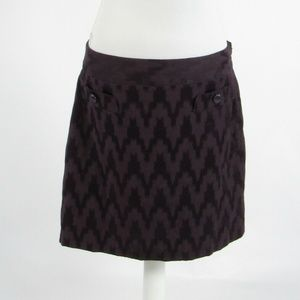 Ann Taylor dark purple chevron skirt 10